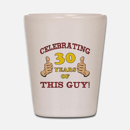 30th Birthday Gift For Him Shot Glass