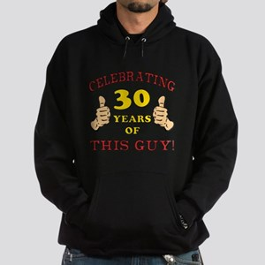 30th Birthday Gift For Him Hoodie (dark)