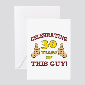 30th Birthday Gift For Him Greeting Card