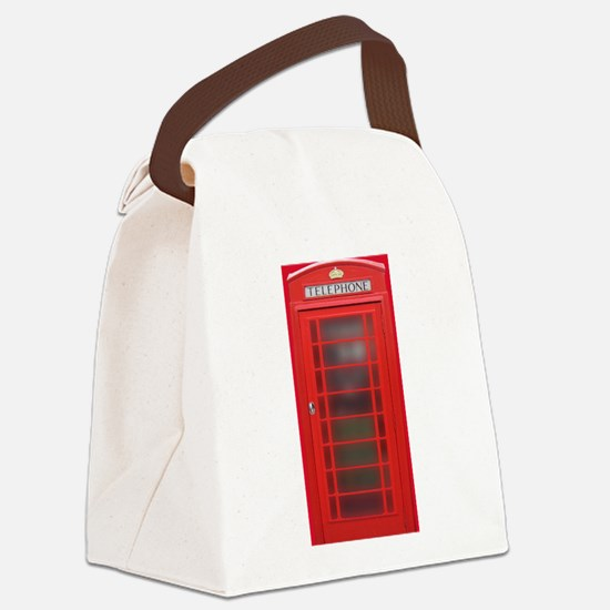 British Phone Booth Canvas Lunch Bag