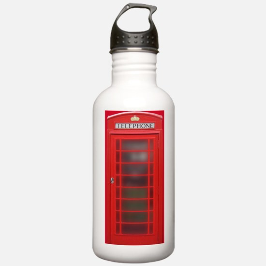 British Phone Booth Water Bottle