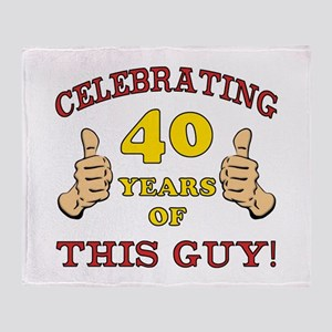 40th Birthday Gift For Him Throw Blanket