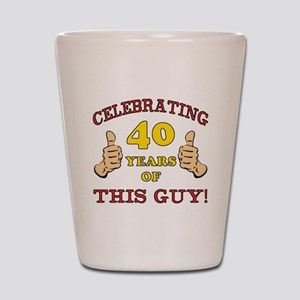 40th Birthday Gift For Him Shot Glass