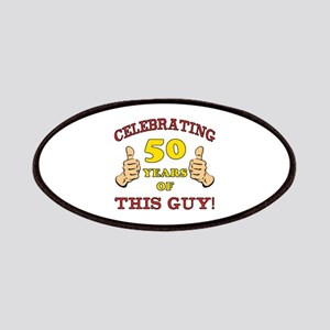 50th Birthday Gift For Him Patches