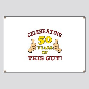 50th Birthday Gift For Him Banner