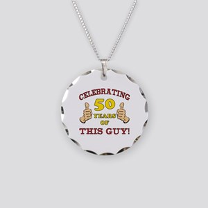 50th Birthday Gift For Him Necklace Circle Charm