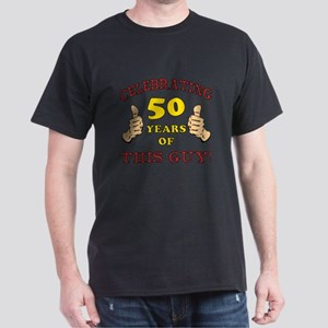 50th Birthday Gift For Him Dark T-Shirt