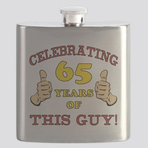 65th Birthday Gift For Him Flask