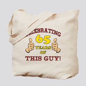 65th Birthday Gift For Him Tote Bag