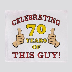 70th Birthday Gift For Him Throw Blanket