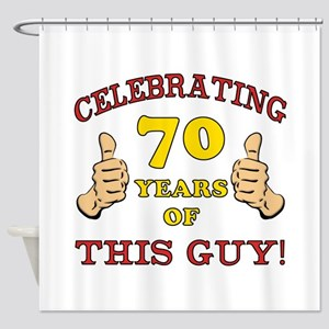 70th Birthday Gift For Him Shower Curtain