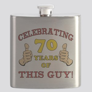 70th Birthday Gift For Him Flask