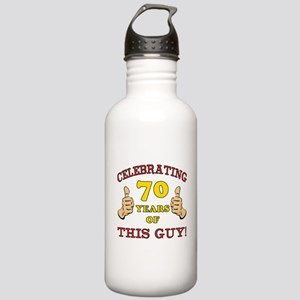 70th Birthday Gift For Him Stainless Water Bottle