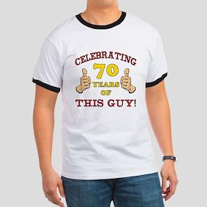 70th Birthday Gift For Him Ringer T