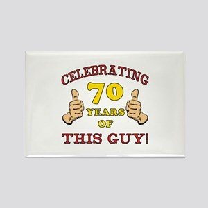 70th Birthday Gift For Him Rectangle Magnet