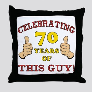 70th Birthday Gift For Him Throw Pillow
