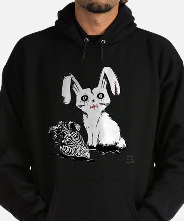 Zombie Bunny Rabbit with Skeleton Carrots Hoodie