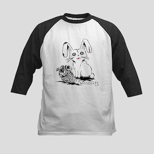 Zombie Bunny Rabbit with Skeleton Carrots Baseball