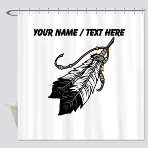 Custom Native American Feathers Shower Curtain