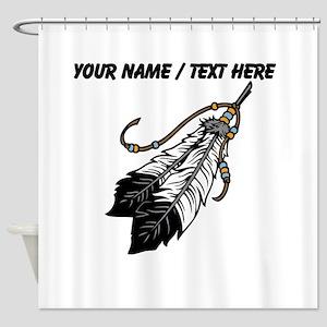Custom Native American Feathers Shower Curtain