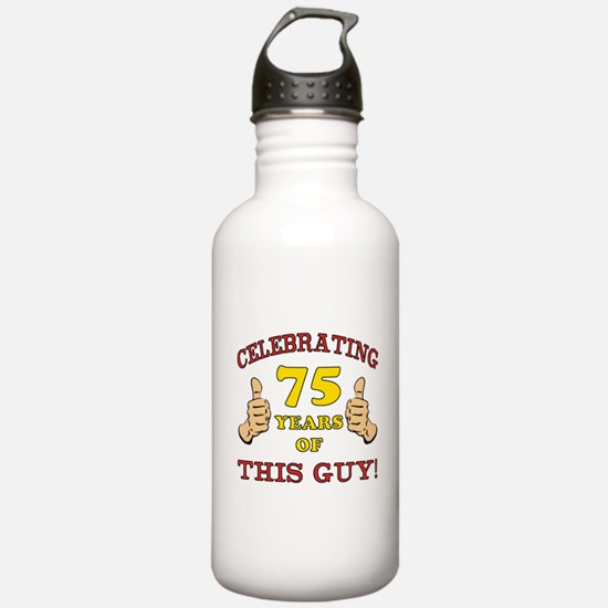75th Birthday Gift For Him Water Bottle