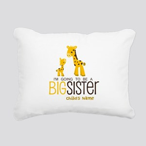 Custom Giraffe Big Sister-to-Be Rectangular Canvas