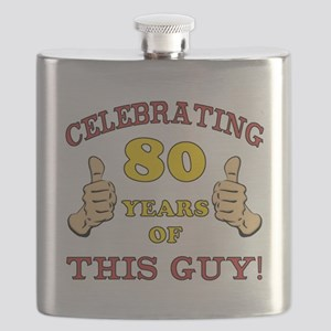 80th Birthday Gift For Him Flask