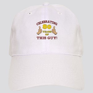 80th Birthday Gift For Him Cap