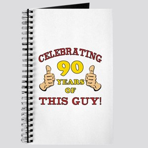 90th Birthday Gift For Him Journal