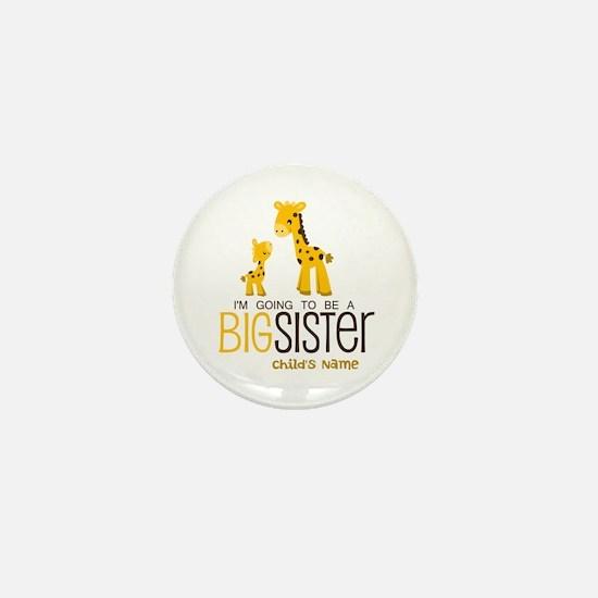 Custom Giraffe Big Sister-to-Be Mini Button