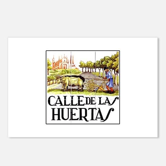 Calle Huertas, Madrid - Spain Postcards (Package o
