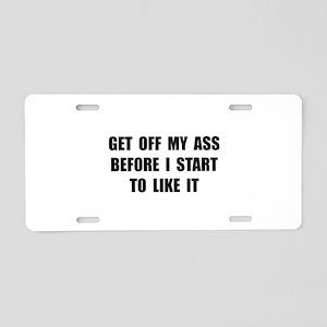 Off Ass Aluminum License Plate