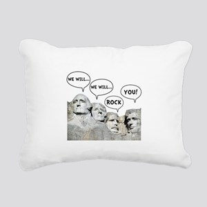 Rushmore Rock You Rectangular Canvas Pillow