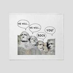 Rushmore Rock You Throw Blanket