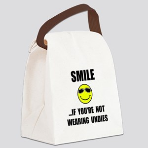 Smile Undies Canvas Lunch Bag
