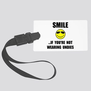 Smile Undies Luggage Tag