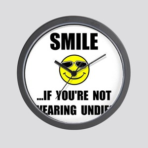 Smile Undies Wall Clock