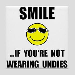 Smile Undies Tile Coaster