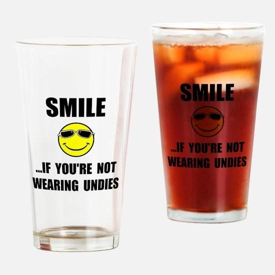 Smile Undies Drinking Glass