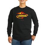 Lacrosse - Flaming Stick & De Long Sleeve Dark T-S