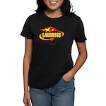 Lacrosse - Flaming Stick & De Women's Dark T-Shirt