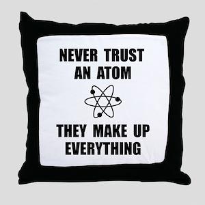 Trust Atom Throw Pillow