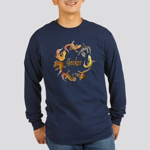 Circle of Geckos Long Sleeve Blue T-Shirt