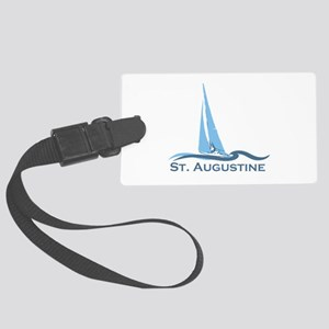 St. Augustine - Sailing Design. Large Luggage Tag