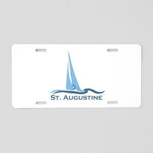 St. Augustine - Sailing Design. Aluminum License P