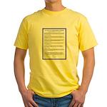 Le Pacte--Français Yellow T-Shirt