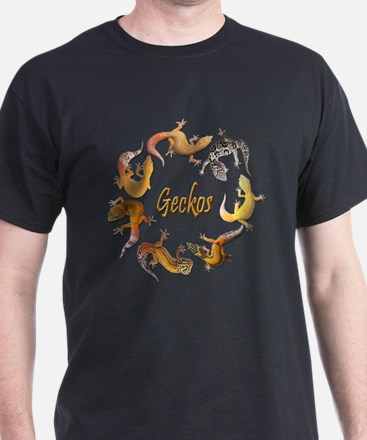 Circle of Geckos Black T-Shirt