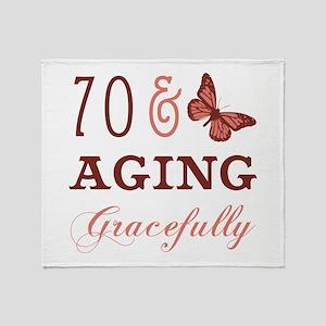 70 & Aging Gracefully Throw Blanket