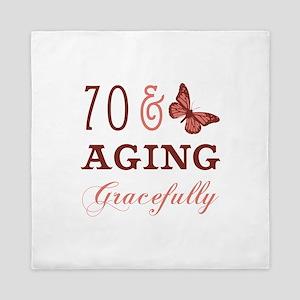 70 & Aging Gracefully Queen Duvet