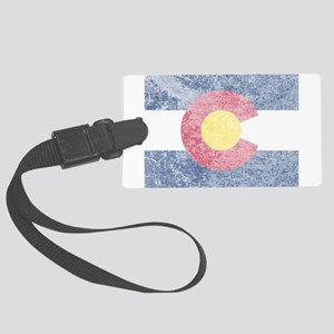 Vintage Colorado Flag Large Luggage Tag